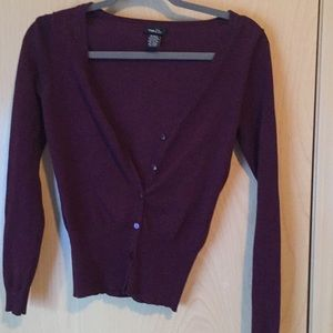 Plum colored lightweight cardigan Rue 21